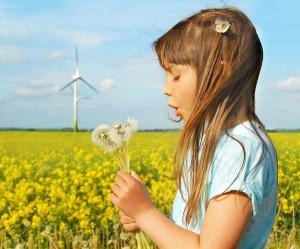 giel with wind turbine