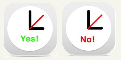 Yes and No Clockfaces